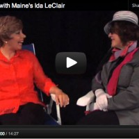 Gossip Lady with Maine's Ida LeClair