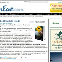 "Down East Magazine, ""The Good Life Guide"""